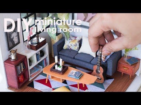 DIY Dollhouse Miniature Living Room - Locus's Sitting Room