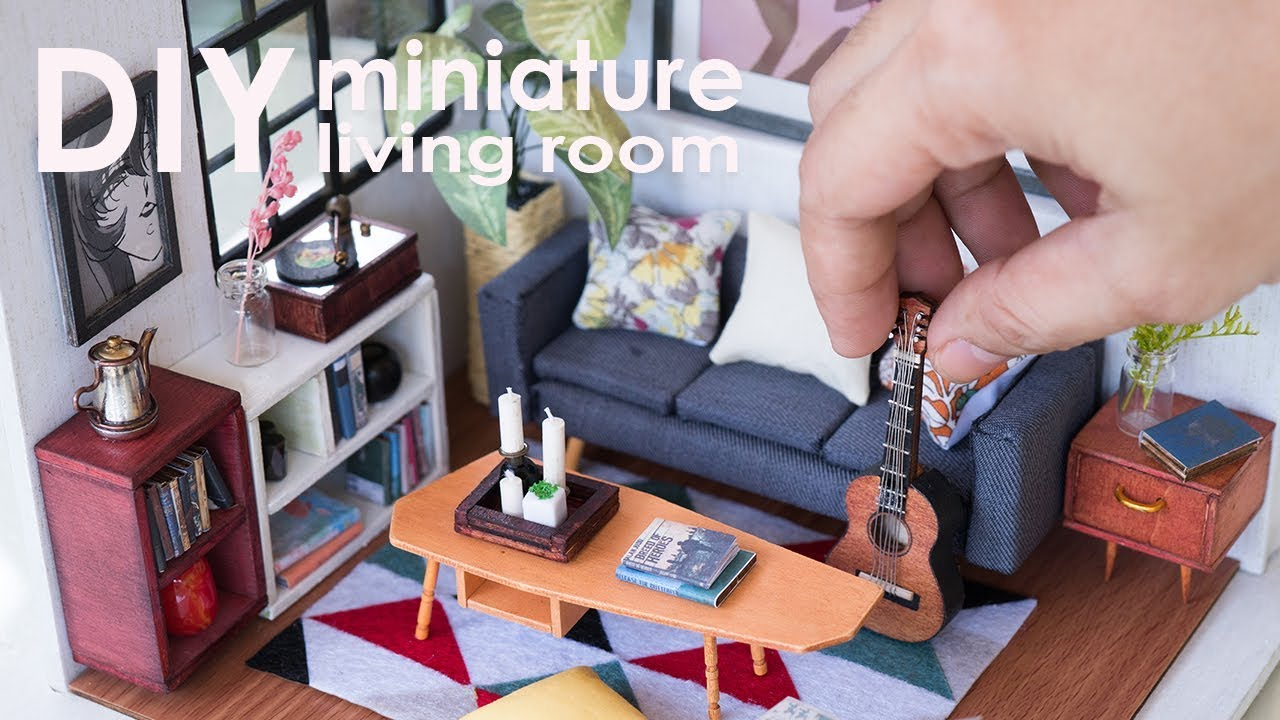 DIY Miniature Dollhouse Living Room   Locusu0027s Sitting Room Part 45