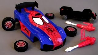 Ridemakerz Spiderman Xtreme Custom Car Starter Kit From Marvel how-to Buildable Toys Review