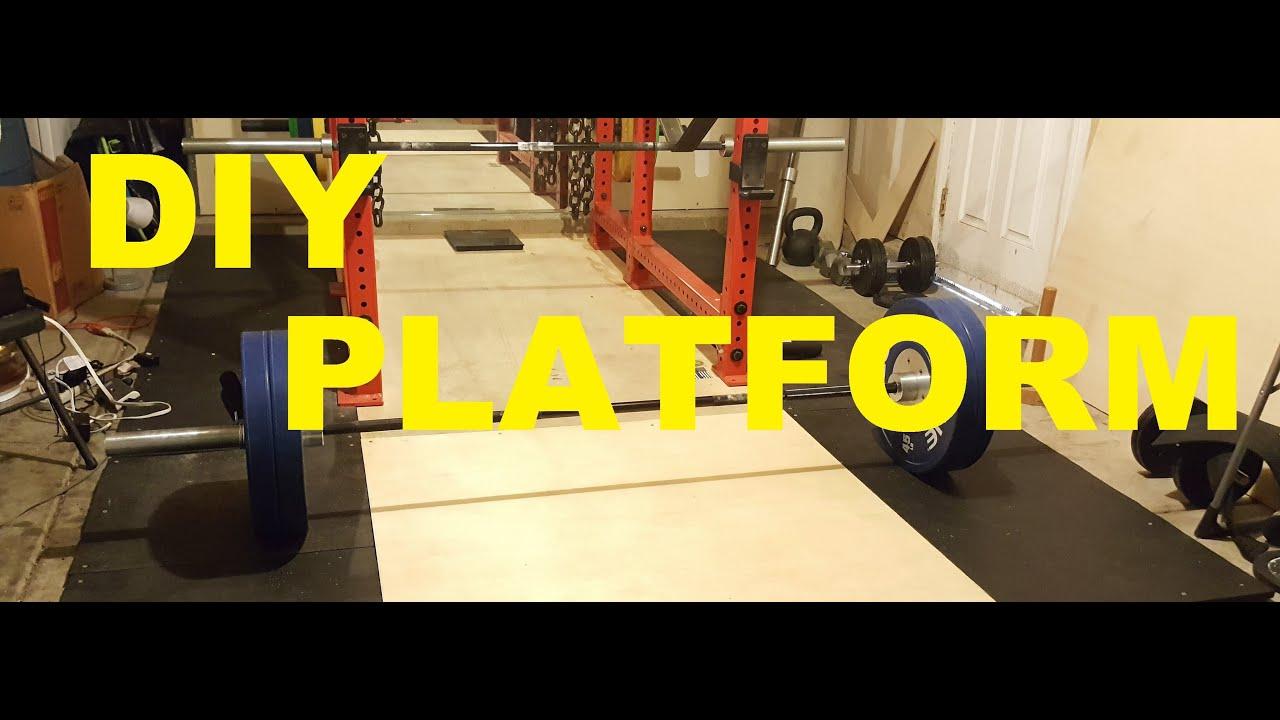 Diy deadlift platform garage gym youtube
