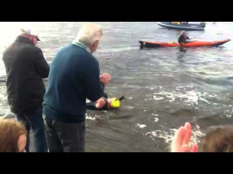 LARGS NEWS Saltire swim Cumbrae to Largs