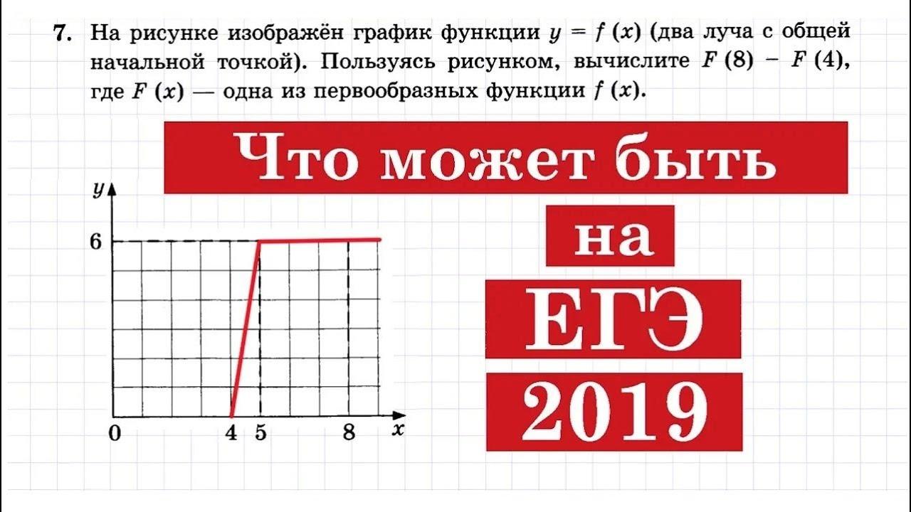Что может быть на ЕГЭ 2019 в задании №7