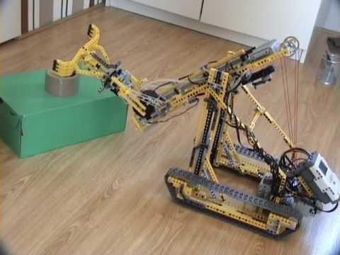 Lego Mindstorms Nxt Robotic Arm With Power Functions Youtube
