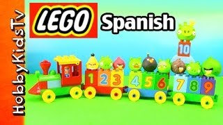 Lego Number Train Set Learn Spanish Numbers Box Open Build Play Duplo (10558) Hobbykidstv