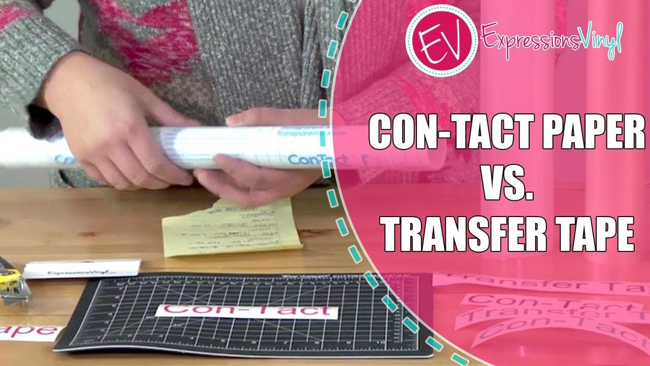 Transfer Tape vs  Con-Tact Paper
