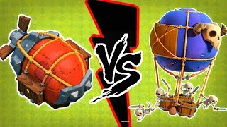 MAX LVL BATTLE BLIMP VS MAX LVL DROP SHIP | ATTACKS |CLASH OF CLANS