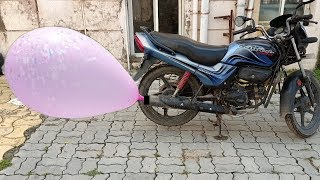 Balloon vs Bike Silencer || Big size balloon create