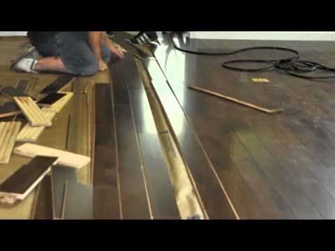 Repairing Water Damaged Wood Floors And Installation Youtube