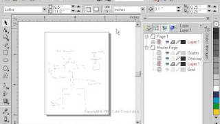 CorelDraw 9 for PC Scenario -tracing over a scanned image - technical drawing