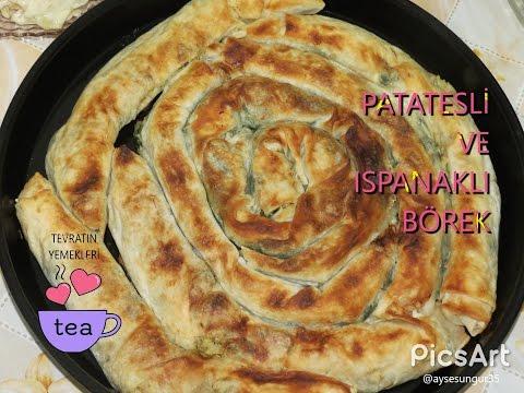 patatesli börek  ispanakli börek  yemek tarifi
