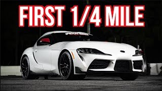 2020 Toyota Supra FIRST 1/4 Mile Test! - Mods Coming Soon!