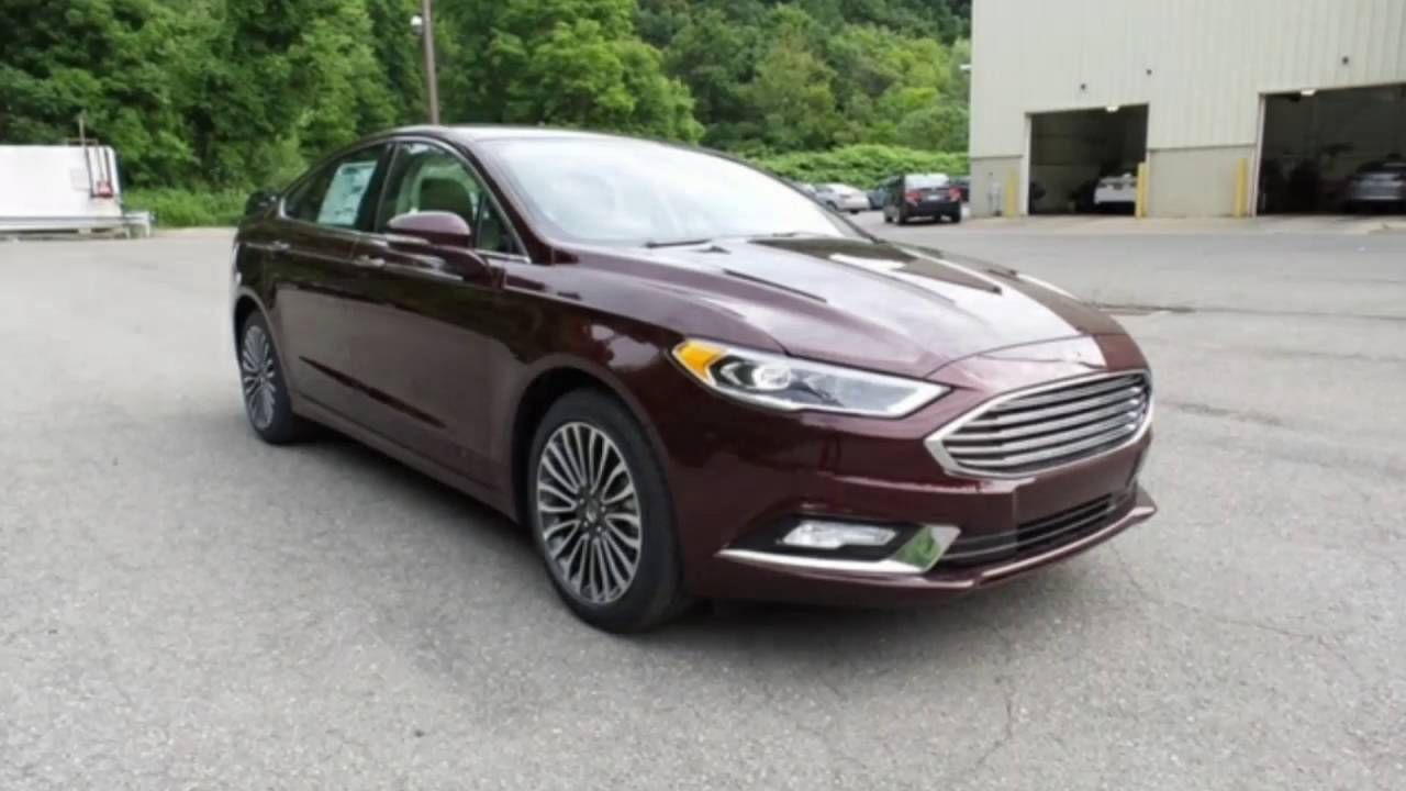 2017 Ford Fusion 2 0 Ecoboost >> 2017 FORD FUSION SE ECOBOOST BURGUNDY VELVET AT FALCONS MOONTOWNSHIP FORF - YouTube