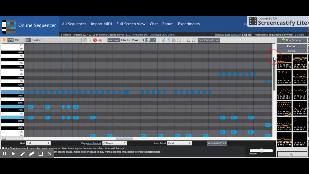 darude sandstorm on online sequencer youtube