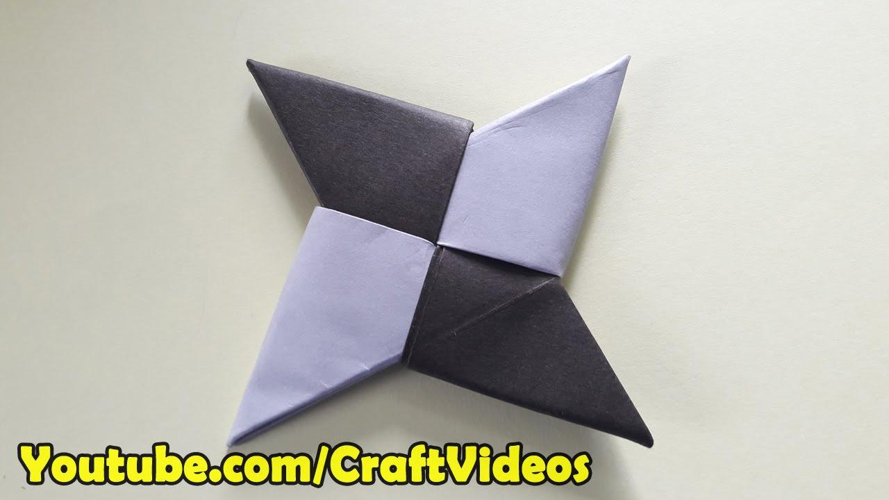 how to make a paper ninja star easy origami ninja star