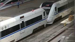 CRH1A+CRH1A, China High Speed train 中國高速列車 (D2338深圳北往厦门, Shenzhen to Xiamen Train)