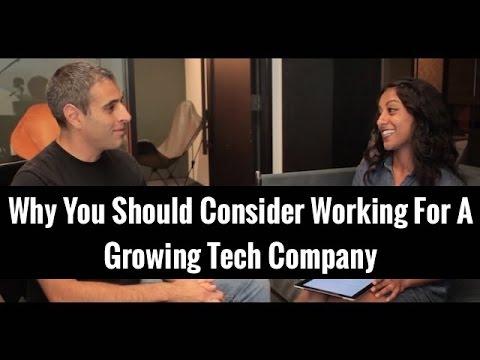 Why You Should Consider Working For A Growing Tech Company | Poornima Vijayashanker & Pedram Keyani