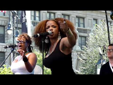 Leela James - Music - live at City Hall Park, New York City