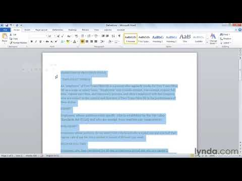 How to format text in Microsoft Word | lynda.com tutorial
