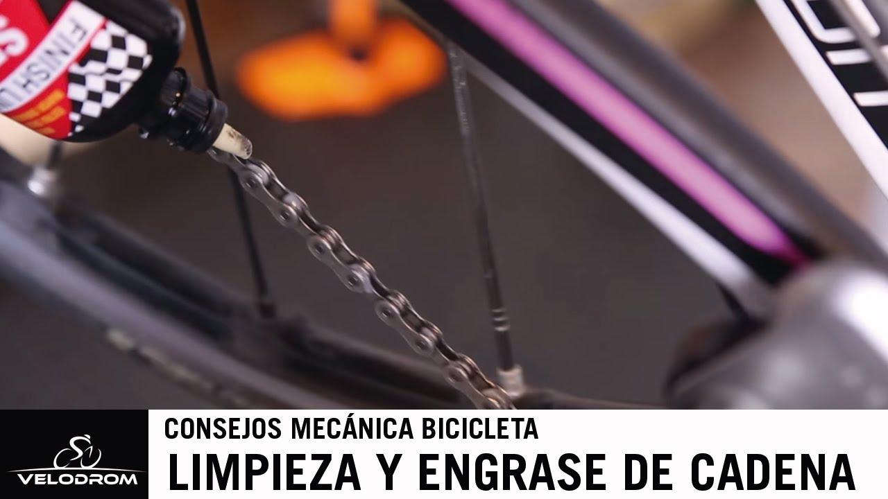 Limpieza y engrase de una cadena de bicicleta - YouTube