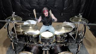 Manowar - Hand of Doom Drumalong Drum Cover
