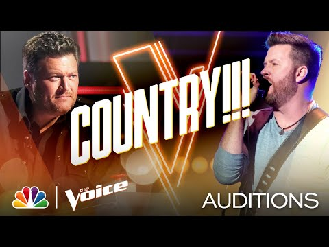 """Country Singer Ben Allen Takes On Brooks & Dunn's """"Red Dirt Road"""" - The Voice Blind Auditions 2020"""