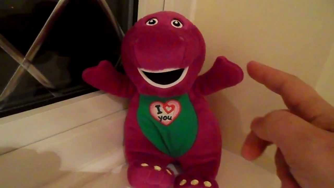 barney the dinosaur soft toy sings the