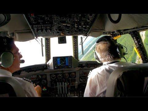 Super Constellation ✈  Amazing Black Forest Flight & Low Pass in Cockpit!