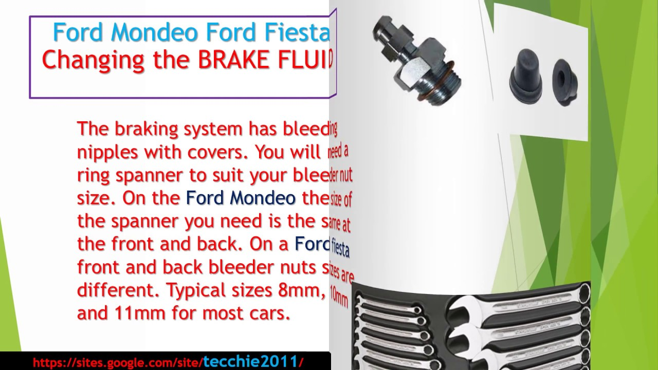 Brake Fluid change Ford Mondeo, Ford Fiesta, Ford Focus