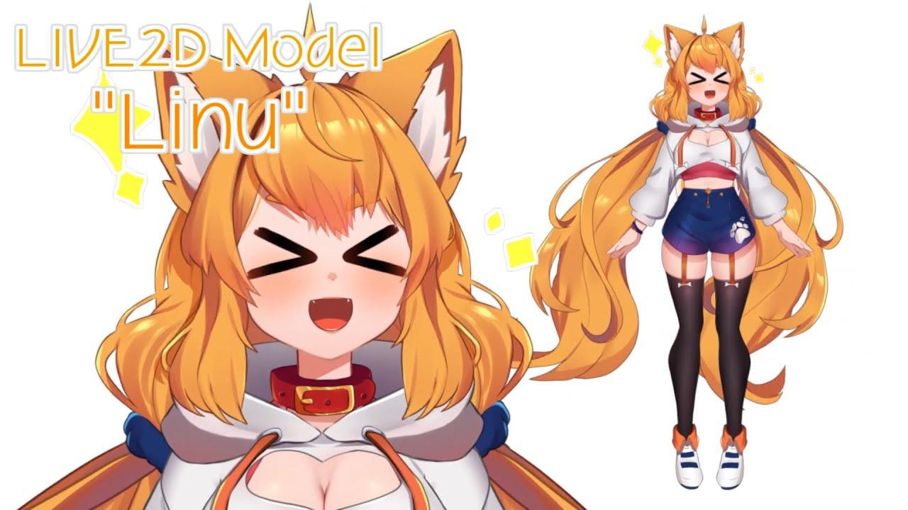 """LIVE2D model """"Linu"""""""