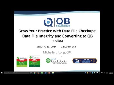 Grow Your Practice with Data File Checkup - QuickBooks Data File Integrity, converting to QBO + more