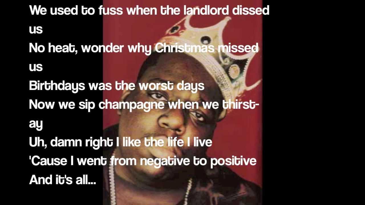 Biggie Smalls - Juicy (lyrics) (HD) [1080] - YouTube