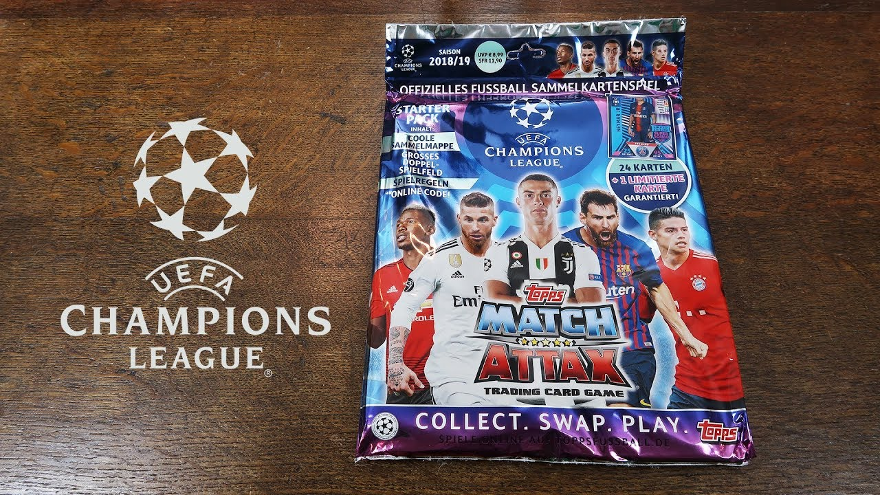 Match Attax Champions League 2018 19 Starter Pack Opening