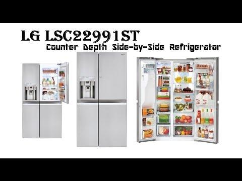 LG Counter Depth Refrigerator | LG LSC22991ST Counter Depth Side-by-Side  Refrigerator