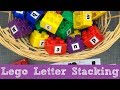 Lego Letter Stacking For Preschool and Kindergarten