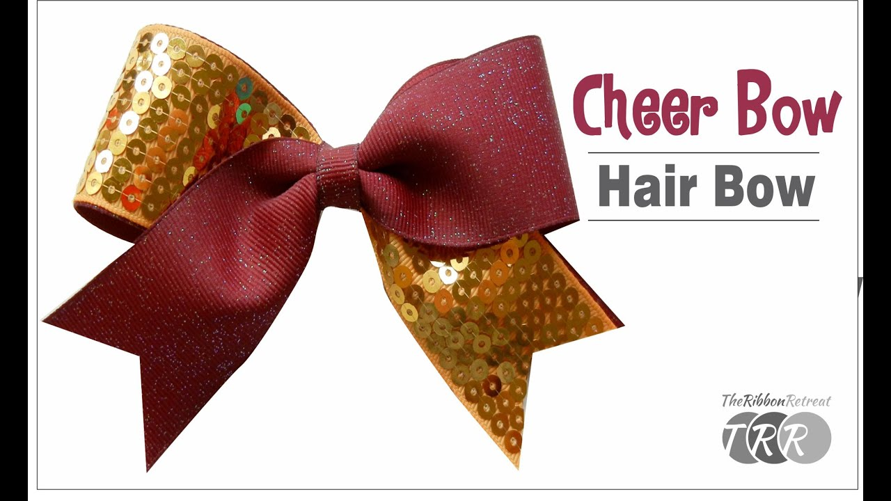 73a5e994844 How to Make a Cheer Bow Hair Bow - TheRibbonRetreat.com - YouTube