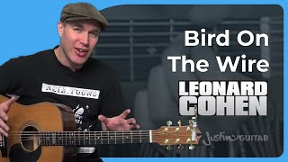 Bird On The Wire by Leonard Cohen (Acoustic Guitar Lesson SB-115)