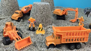 Construction Toys Action Playset - Mighty Machines Excavator Bulldozer Articulated Front Loader