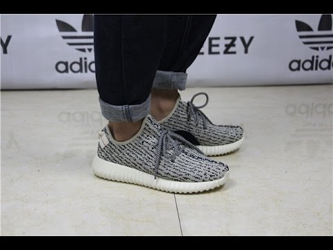 35a6c99808afc Authentic Adidas Yeezy Boost 350 Turtle Dove On Feet From Gogokicksgame.com