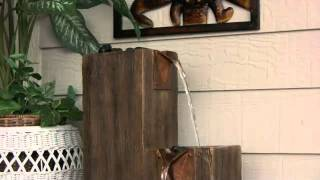 Timber Indoor Or Outdoor Floor Fountain By Kenroy Fountains