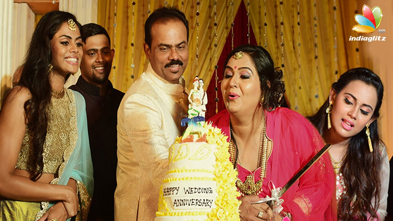 Actress Radha 25th Wedding Anniversary Celebrations Daughters Karthika Nair Thulasi You
