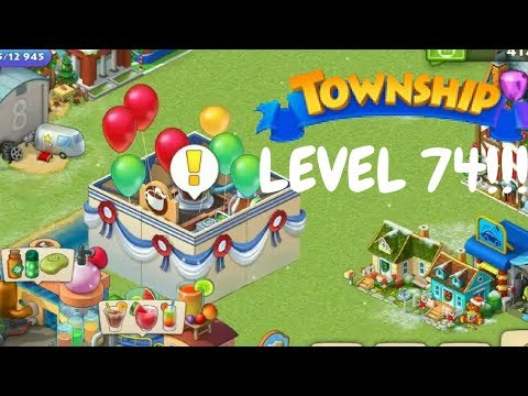 TOWNSHIP LEVEL 74 GAMEPLAY / UNLOCKING COFFEE FACTORY !!!!!