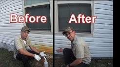 Pressure Wash - How To Remove Rust Stains from Vinyl Siding - No Scrubbing