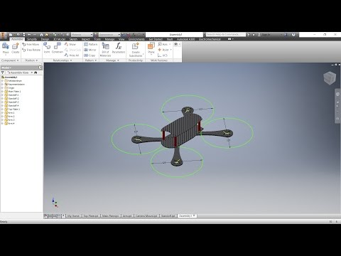 Designing a Drone in Autodesk Inventor (Timelapse)