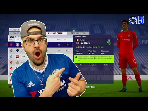WTF LIVERPOOL OFFERS 75 MILLION FOR COURTOIS! - FIFA 18 CHELSEA CAREER MODE #15