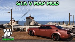 WAJIB COBA!! GTA V MAP HD MOD For GTA SA ANDROID | Support All Os Android