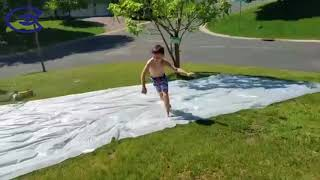 DIY Slip and Slide Cheap Easy DURABLE LONG and WIDE