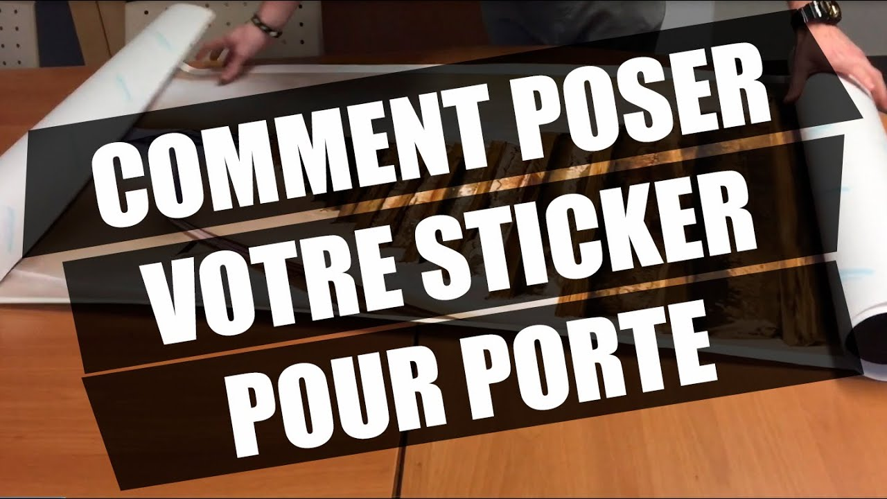Comment Poser Un Sticker Porte Mpadeco Com