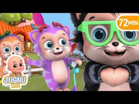 Five Little Kittens driving - Parenting and teaching - Education Nursery Rhymes by Jugnu Kids