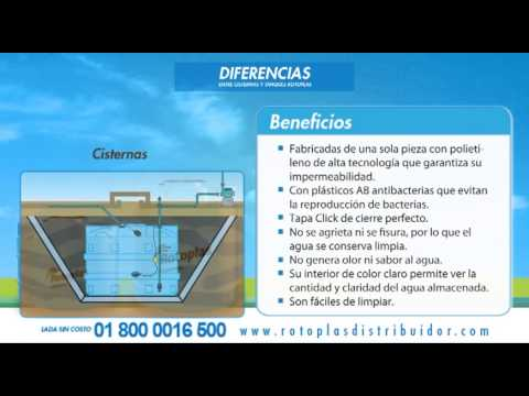 Tanques y cisternas rotoplas diferencias youtube for Diferencia entre tanque y estanque