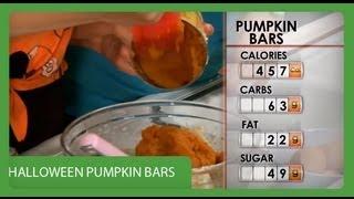 Halloween Pumpkin Bars I Recipe Rehab I Everyday Health